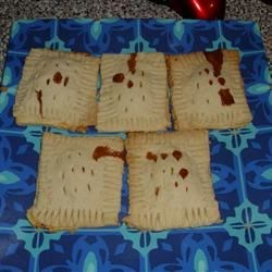 Home-made chocolate-caramel poptarts