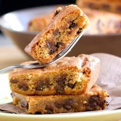 Fudgy Peanut Butter Chocolate Chip Brownies