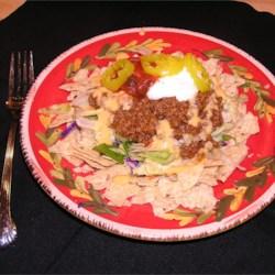 Salad w/ Seasoned Taco Meat