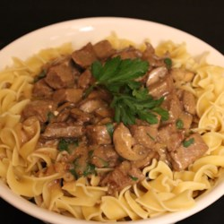 Classic Beef Stroganoff in a Slow Cooker