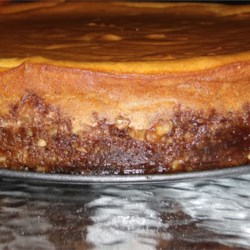 Pumpkin Cheesecake in a Gingersnap Crust  Recipe