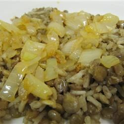 Mujaddara Arabic Lentil Rice Recipe