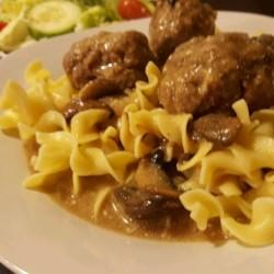 Beef Stroganoff Sauce with Meatballs