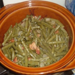 Blackened Green Beans