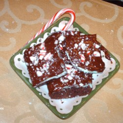 Chocolate Mint Cake Squares Recipe