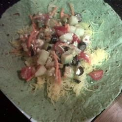 Photo of Greek Salad Wrap by rvlax28