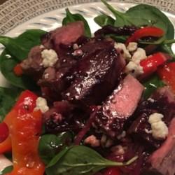 flat iron steak and spinach salad photos