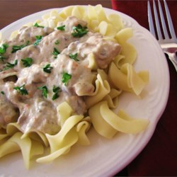Slow cooker chicken main dish recipes allrecipes slow cooker chicken stroganoff recipe and video ultra creamy with cream cheese and cream soup forumfinder Images