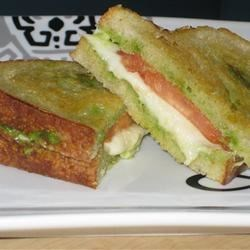 Pesto Grilled Cheese Sandwich
