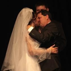 Our first kiss as husband and wife