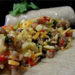 southwest breakfast burritos printer friendly