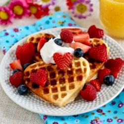 scandinavian sweetheart waffles printer friendly