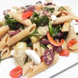 Mediterranean Whole Wheat Pasta Toss