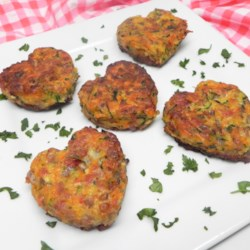 zucchini carrot patties with bacon printer friendly