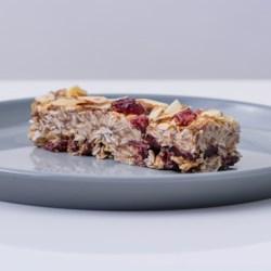 cranberry almond flax oat bars printer friendly