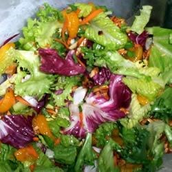 Tossed Romaine and Orange Salad Recipe