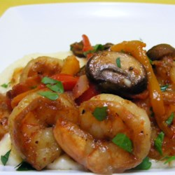 Shrimp over Cheese Grits Recipe