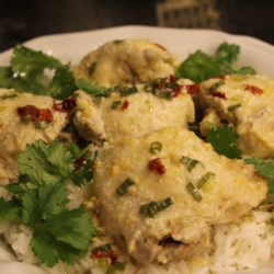 juicy asian steamed chicken thighs printer friendly