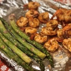 sheet pan lemon butter garlic shrimp with asparagus printer