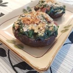 spinach stuffed portobello mushrooms printer friendly