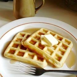 Yeast Waffles Recipe