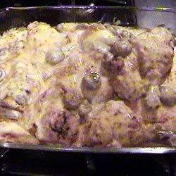 Baked Chicken with Mushroom Gravy