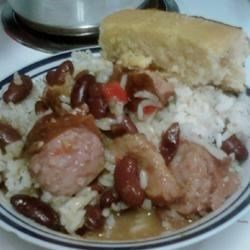 Richard and Suzanne's Famous Red Beans and Sausage