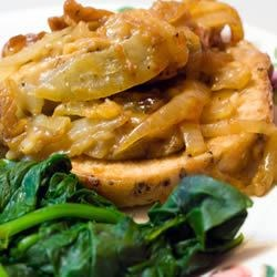 Roast Pork with Onion Stuffing