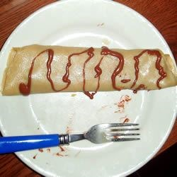 Crepe with nutella