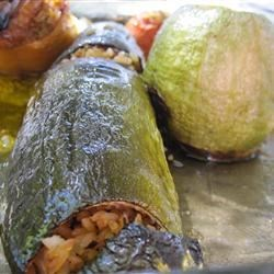 Greek Stuffed Zucchini