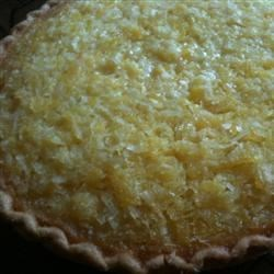Pineapple Coconut Chess Pie
