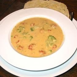 Broccoli Crawfish Cheese Soup Recipe