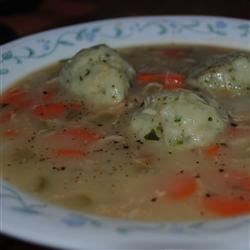 Hearty Turkey Soup with Parsley Dumplings Recipe
