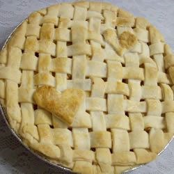 Heart Lattice Sour Apple Pie