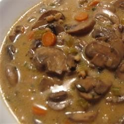 Barley, Lentil and Mushroom Soup Recipe