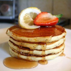 Sunday Morning Lemon Poppy Seed Pancakes Recipe