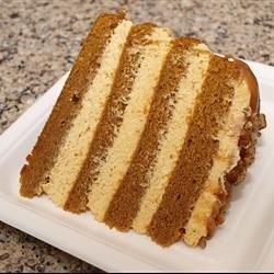 Luscious Four Layer Philly Pumpkin Cake