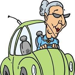 Granny in her bug
