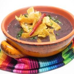 Mexican Bean and Tortilla Soup (Sopa Tarasca)