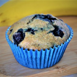 Lactose-Free Banana and Blueberry Muffins