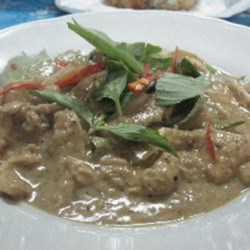 easy panang curry with chicken printer friendly