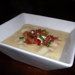 baked potato soup V