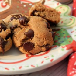 Chewy Hollow Chocolate Peanut Butter Cookies