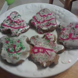 my gingerbread cookies from this recipe