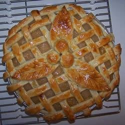 Straight out of the oven -it looked even better when it cooled a bit & the colour evened out. :)