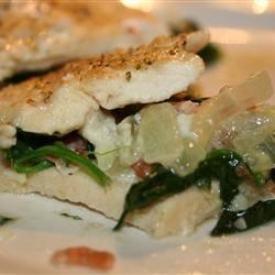 Stuffed Chicken w/ Spinach, Onions, Blue Cheese & Bacon