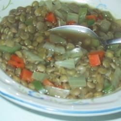 Spicy Lentil Vegetable Soup Recipe