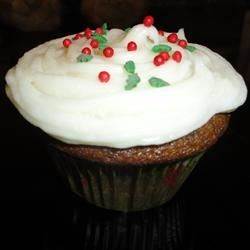 Gingerbread Cupcakes with Cream Cheese Frosting
