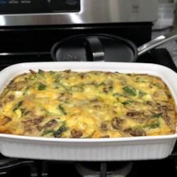 spinach and mushroom egg casserole recipe photos