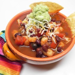 Hearty Vegetarian Enchilada Soup